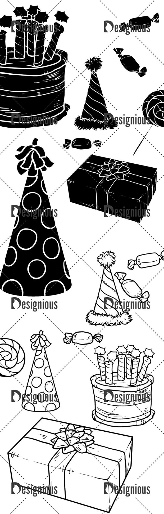Vector Birthday Set Pack 1 designious vector birthday set pack 1 large preview