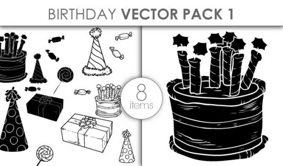 Vector Birthday Set Pack 1 designious vector birthday set pack 1 small preview