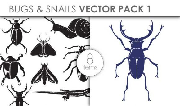 Vector Bugs Snails Pack 1 Vector packs vector