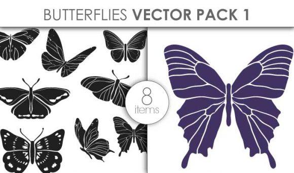 Vector Butterflies Pack 1 Vector packs vector