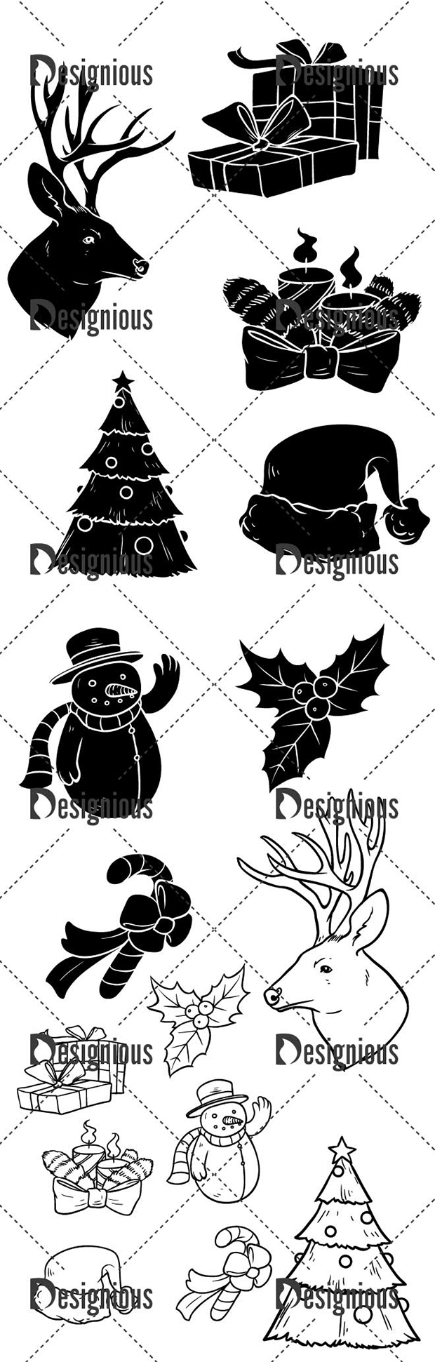 Vector Christmas Pack 1 designious vector christmas pack 1 2 large preview
