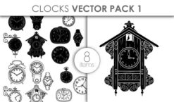Vector Clocks Pack 1 Vector packs vector