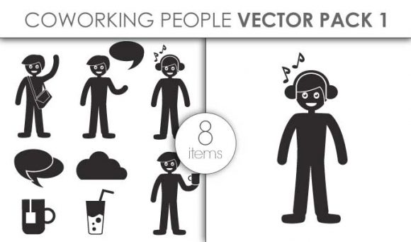 Vector Coworking Space Infographics Pack 1for Vinyl Cutter Infographics vector