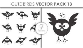 Vector Cute Birds Pack 13for Vinyl Cutter Vector packs vector