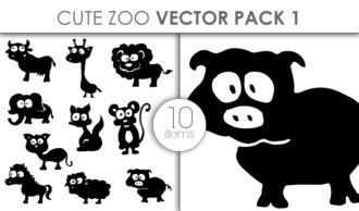 Vector Cute Zoo Pack 1 Vector packs vector