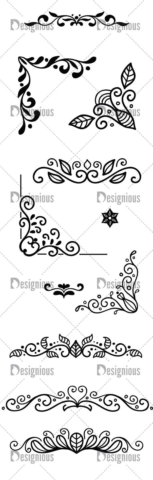 Vector Doodle Ornaments Pack 1 designious vector doodle ornaments pack 1 large preview