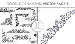 Vector Doodle Ornaments Pack 1 Vector packs vector