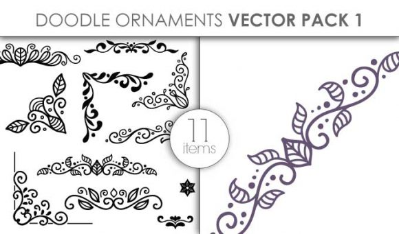 Vector Doodle Ornaments Pack 1 designious vector doodle ornaments pack 1 small preview