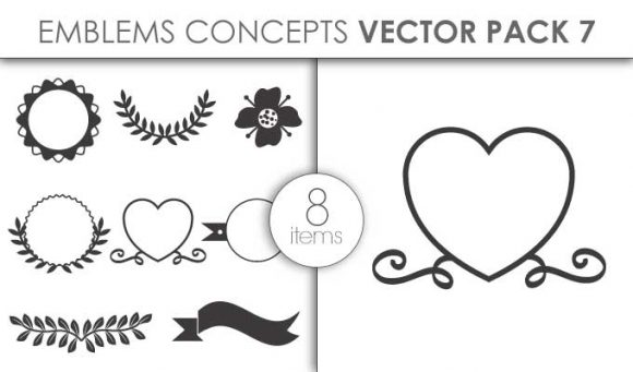 Vector Emblems Pack 7for Vinyl Cutter Vector packs vector