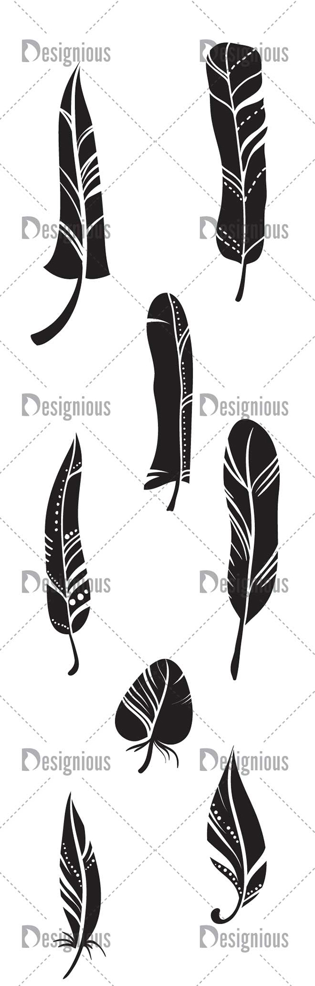 Vector Feathers Pack 1 designious vector feathers pack 1 large preview