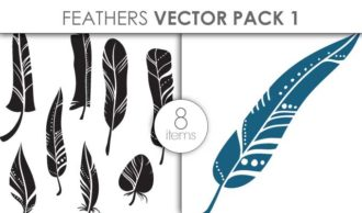 Vector Feathers Pack 1 Vector packs vector