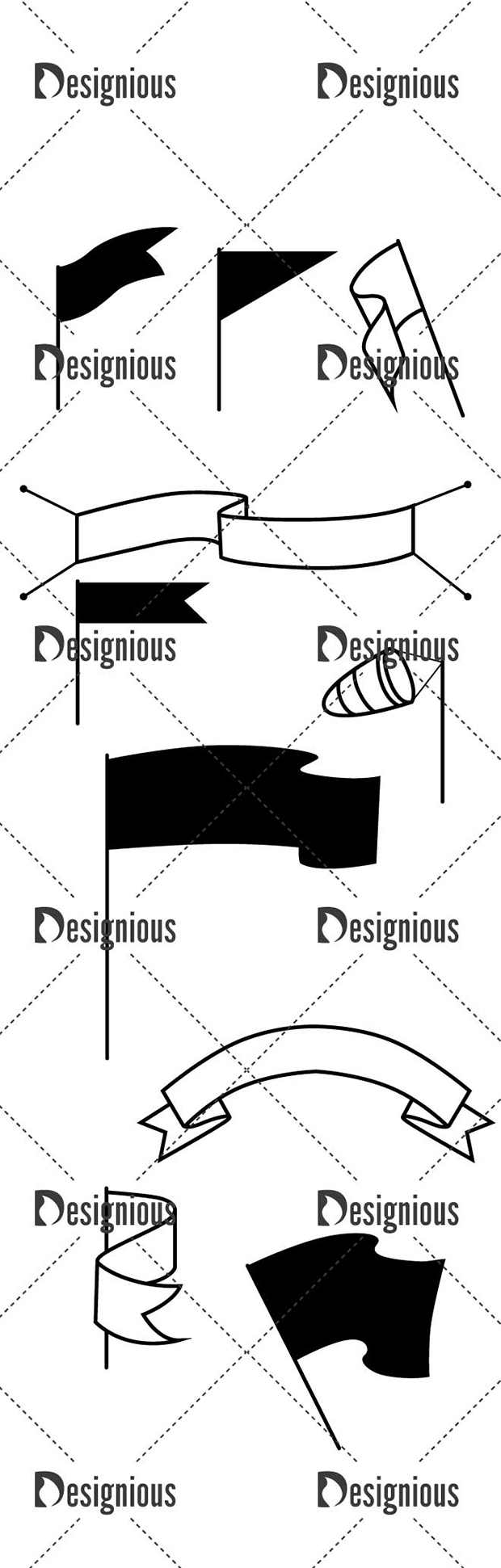 Vector Flags Pack 1for Vinyl Cutter designious vector flags pack 1 large preview