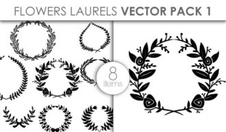 Vector Floral Laurels Pack 1 Vector packs vector
