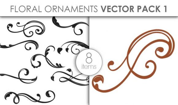 Vector Floral Ornaments Pack 1 Vector packs vector