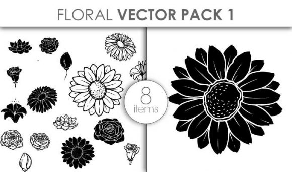 Vector Floral Pack 1 Vector packs vector