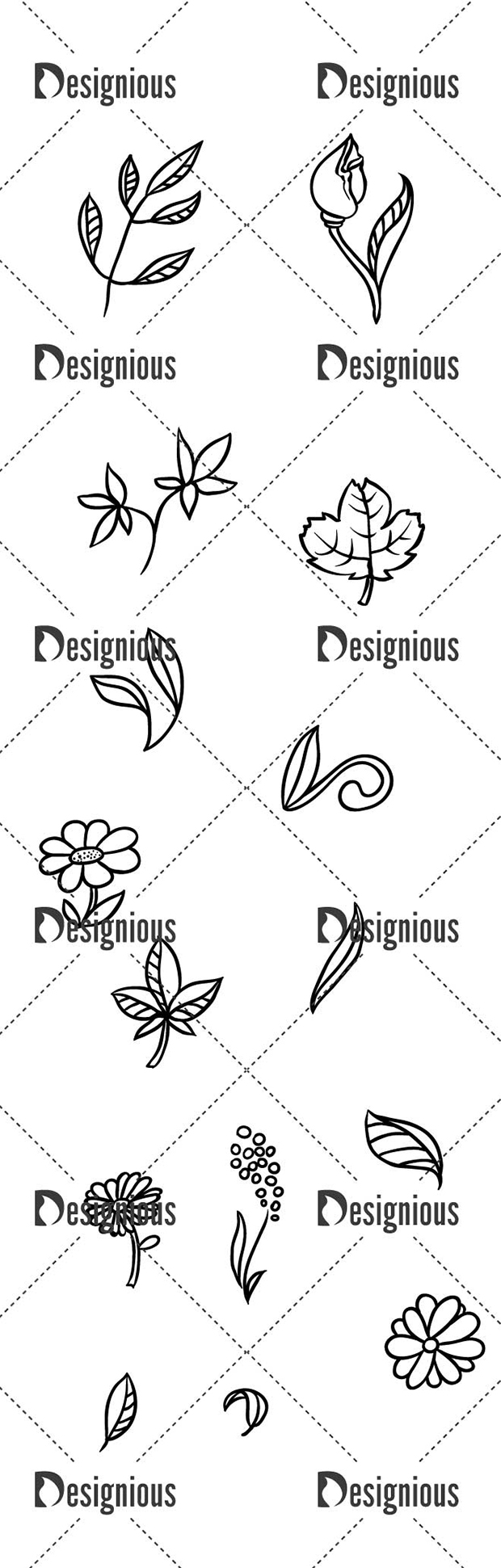 Vector Floral Pack 161for Vinyl Cutter designious vector floral pack 161 large preview
