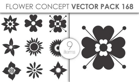 Vector Flower Pack 168for Vinyl Cutter Vector packs vector