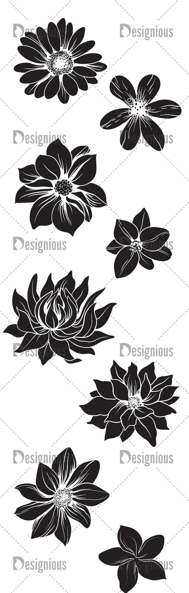 Vector Flowers Pack 1 6