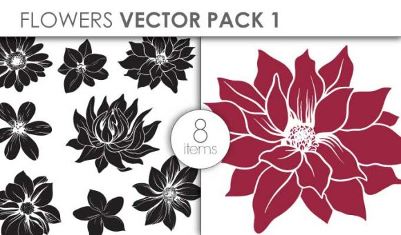 Vector Flowers Pack 1 Vector packs vector