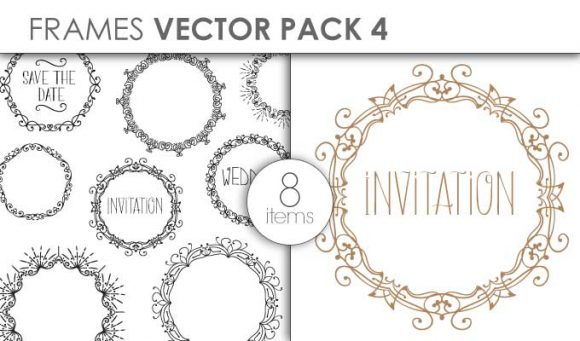 Vector Frames Pack 4 Vector packs vector