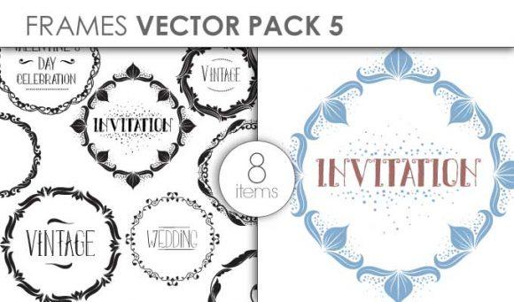 Vector Frames Pack 5 Vector packs vector