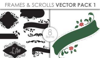 Vector Frames Scrolls Pack 1 Vector packs vector