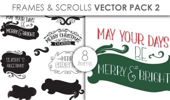 Vector Frames Scrolls Pack 2 Vector packs vector