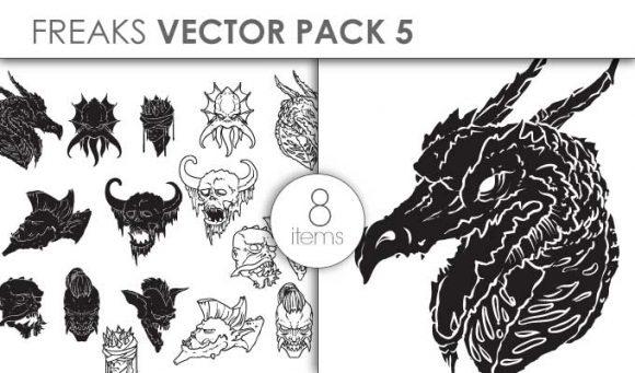 Vector Freaks Pack 5for Vinyl Cutter Vector packs vector