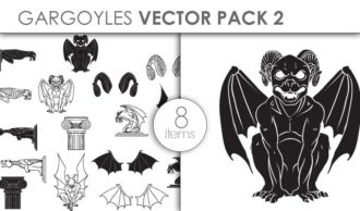 Vector Gargoyles Pack 2 Vector packs vector