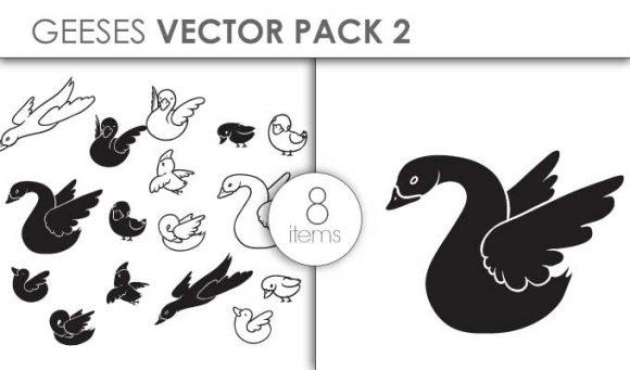 Vector Geese Pack 2 Vector packs vector