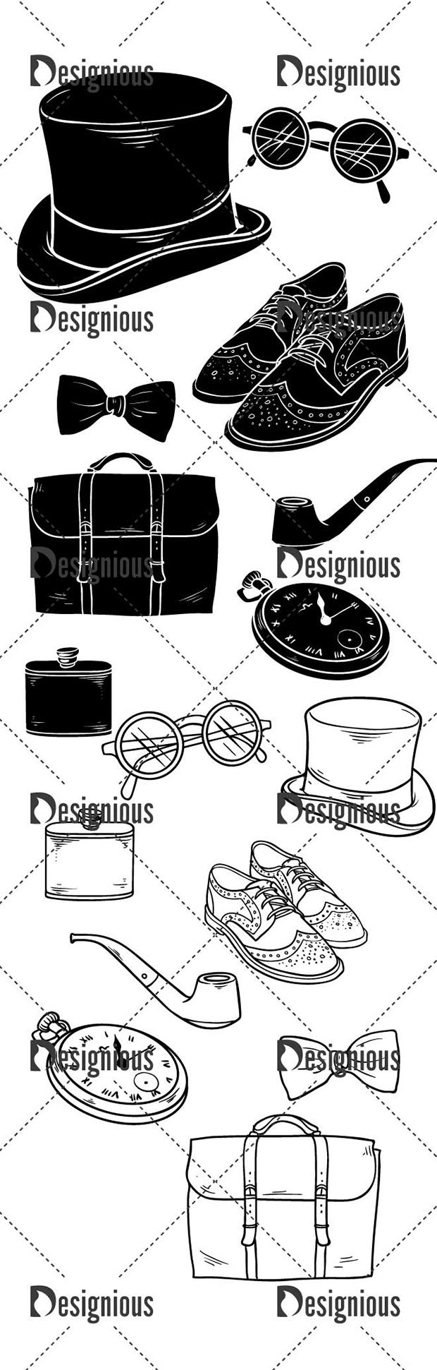 Vector Gentleman Stuff Pack 1 designious vector gentleman stuff pack 1 large preview
