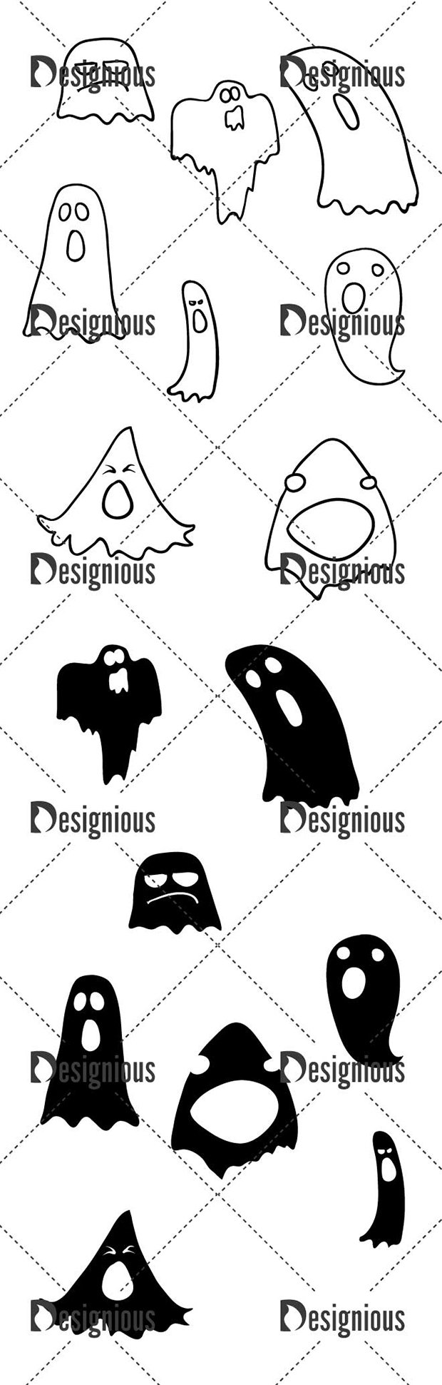 Vector Ghosts Pack 2 designious vector ghosts pack 2 large preview
