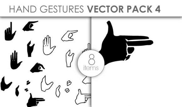 Vector Hands Pack 4 Vector packs vector