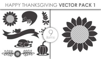 Vector Happy Thanksgiving Pack 1 Vector packs vector
