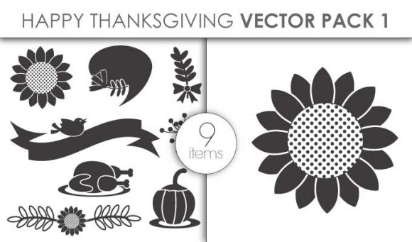 Vector Happy Thanksgiving Pack 1 Vector packs vector
