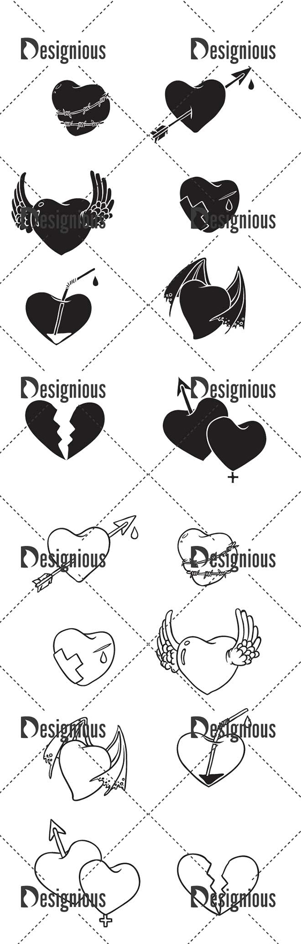 Vector Hearts Pack 7 designious vector hearts pack 7 large preview