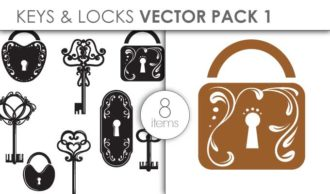 Vector Keys Locks Pack 1 Vector packs vector