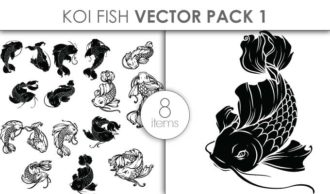 Vector Koi Fish Pack 2 Vector packs vector