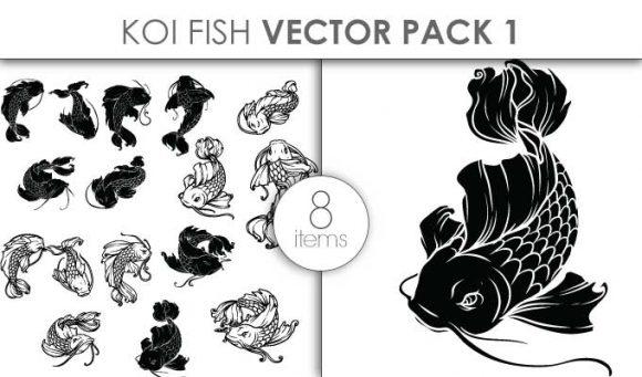 Vector Koi Fish Pack 2 Vector packs vector