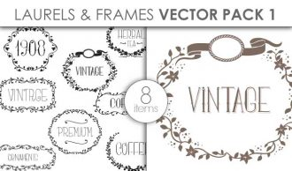 Vector Laurels Frames Pack 1 Vector packs vector