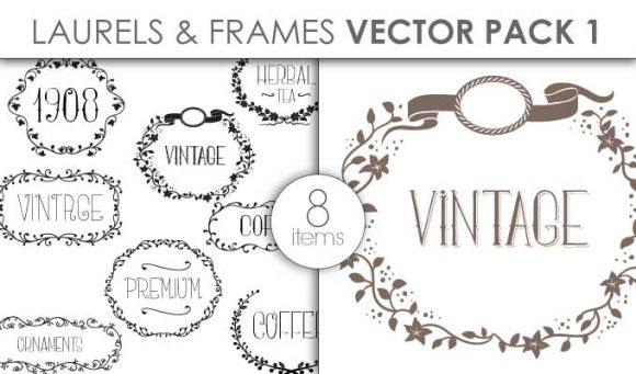 Vector Laurels Frames Pack 1 Vector packs vector