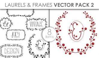 Vector Laurels Frames Pack 2 Vector packs vector
