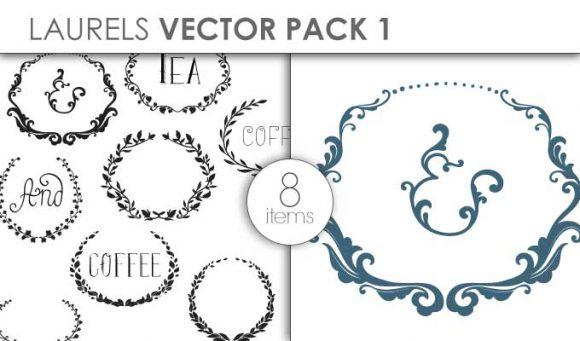 Vector Laurels Pack 1 Vector packs vector