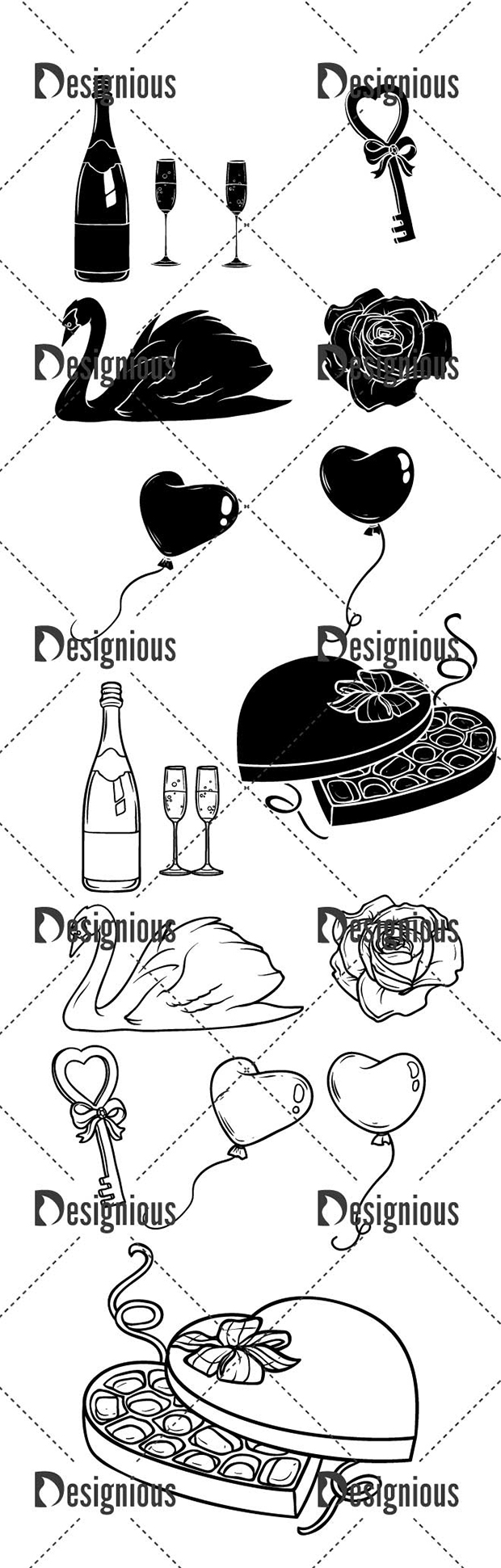 Vector Love Set Pack 1 designious vector love set pack 1 large preview