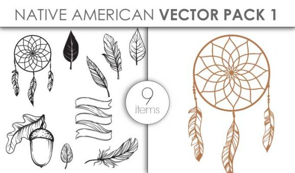 Vector Native American Pack 1 Vector packs vector