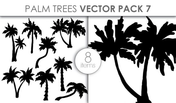 Vector Palm Trees Pack 7 Vector packs vector