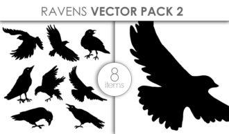 Vector Ravens Pack 2 Vector packs vector