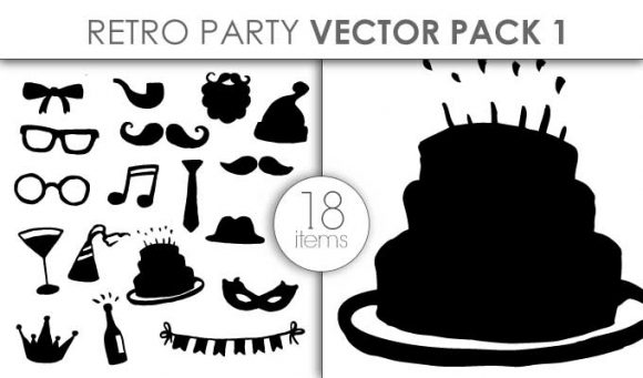 Vector Retro Party Pack 1 Vector packs vector