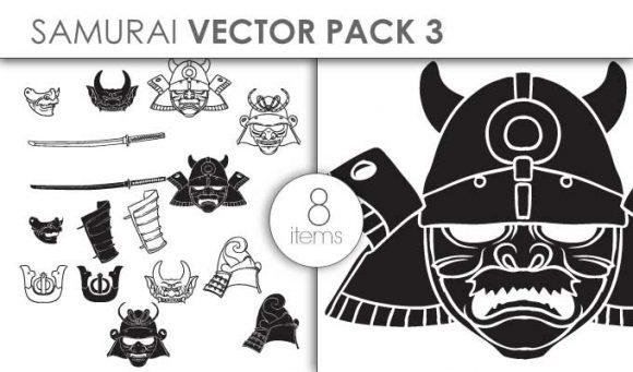 Vector Samurai Pack 3 designious vector samurai pack 3 small preview