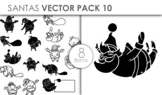 Vector Santas Pack 10 Vector packs vector
